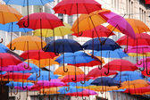 Collection of colorful umbrellas — Stock Photo