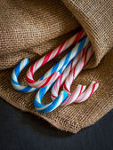 Sweet Candy canes selection — Stock Photo
