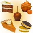 Stock Vector: Cake and Pastry Vectors - Thanksgiving