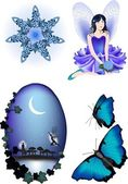 Fairy Vector Illustrations — Stock Vector