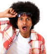 Surprised black man — Stockfoto