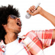 Black man singing — Stock Photo