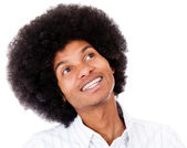 Black man daydreaming — Stock Photo