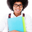 Stock Photo: Black nerd student