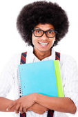 Black nerd student — Stock Photo