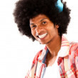 Afro man styling his hair — Stock Photo
