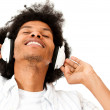 Man enjoying music - Stock Photo
