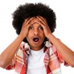 Worried black man — Stock Photo