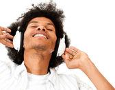 Man enjoying music — Stock Photo