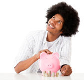 Man thinking how to spend his savings — Stock Photo