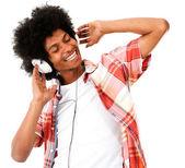 Man listening to music — Stock Photo