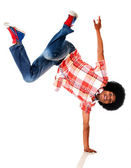 Black man breakdancing — Stock Photo