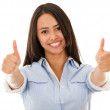 Happy woman with thumbs up — Stock Photo #12746073