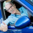 Male driver with thumbs up — Stock Photo