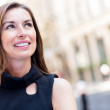 Thoughtful business woman - Stock Photo