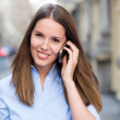 Stock Photo: Woman talking on the phone