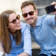 Happy couple on holidays — Stock Photo