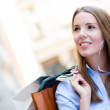 Beautiful female shopper — Stock Photo #12784709
