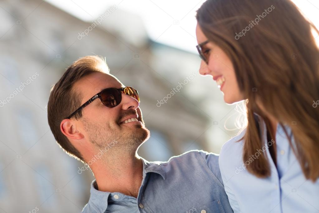 Couple enjoying their vacations and looking very happy  — Stock Photo #12784719