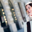 Happy female shopper — Stock Photo #12807886
