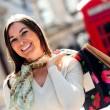 Shopping spree in London — Stock Photo