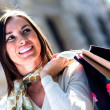 Stock Photo: Beautiful woman shopping