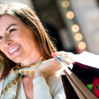 Gorgeous woman shopping — Stock Photo