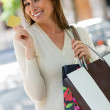 Woman on a shopping spree — Stock Photo