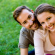 Romantic couple outdoors — Stock Photo