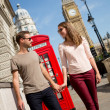 Couple walking in London — Stock Photo