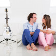 Couple of musicians - Foto Stock