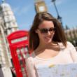 turystycznych w Londynie — Zdjęcie stockowe