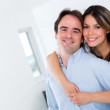 Beautiful couple at home — Stock Photo