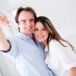 Stock Photo: Couple in their new house