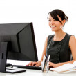 Business woman working at the office — Stock Photo #12947488