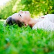 Woman relaxing at the park — Stock Photo #12947551