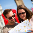 Couple sightseeing in London — Stock Photo