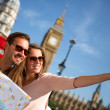 Tourists in London — Stock Photo