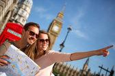 Turisté v londýně — Stock fotografie