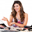 Stock Photo: Makeup artist