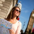 Woman sightseeing in London — Stock Photo #13142869