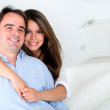 Loving couple at home  — Stock Photo