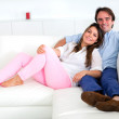 Royalty-Free Stock Photo: Couple relaxing at home