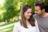 Casal carinhoso — Foto Stock
