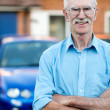 Senior man with car — Stock Photo #13258710