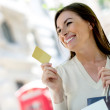 Shopping with a credit card — Stock Photo