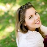 Beautiful woman at the park — Stock Photo