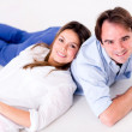 Happy couple relaxing — Stock Photo