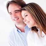 Lovely couple smiling — Stock Photo