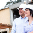 Couple at a construction site  — Stock Photo